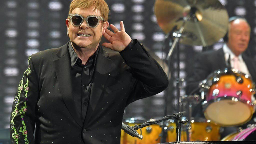 Noch eine letzte Tournee, dann ist Schluss: Elton John bei einem Konzert im Dezember. (Archiv)