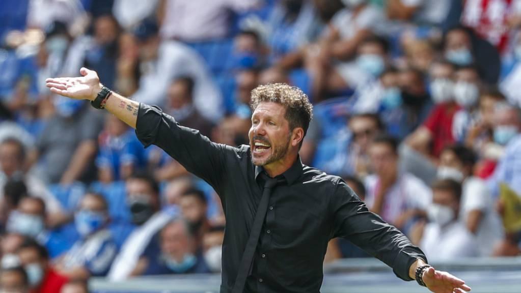 Atléticos Trainer Diego Simeone treibt seine Mannschaft zur erfolgreichen Wende.