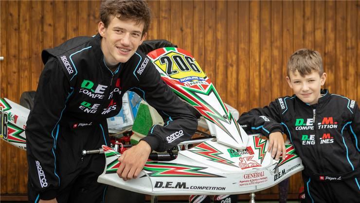 Ferien am Strand? Das gibt es für die begeisterten Kartfahrer Leon (14, links) und Lewis (10) nicht.