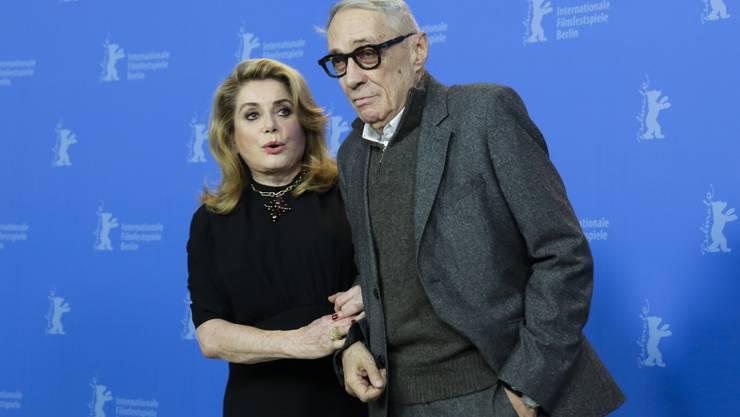 Catherine Deneuve und Regisseur André Téchiné an der Berlinale.