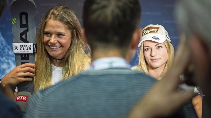 Zwei der Schweizer Speed-Hoffnungen: Corinne Suter (links) und Lara Gut-Behrami.