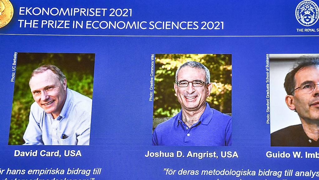Der diesjährige Wirtschaftsnobelpreis geht an die drei Forscher David Card, Joshua Angrist und Guido Imbens. Sie alle liefern für die Forschung neue Erkenntnisse zum Arbeitsmarkt.