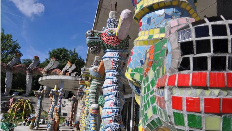 Skulptur aus dem Bruno-Weber-Park: Der Künstler vertrat die Schweiz an der Weltausstellung 1992 in Sevilla.