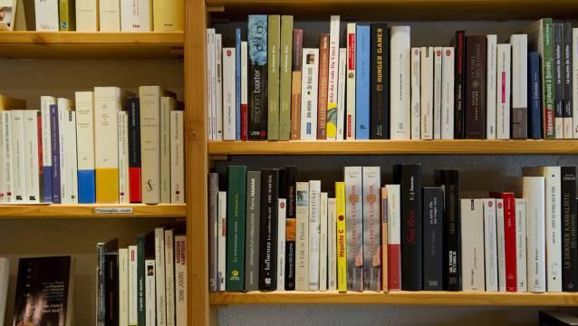 Büchergestell in einer Buchhandlung (Symbolbild)