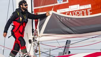Der Genfer Alan Roura auf seinem Boot im November 2018 in Saint-Malo