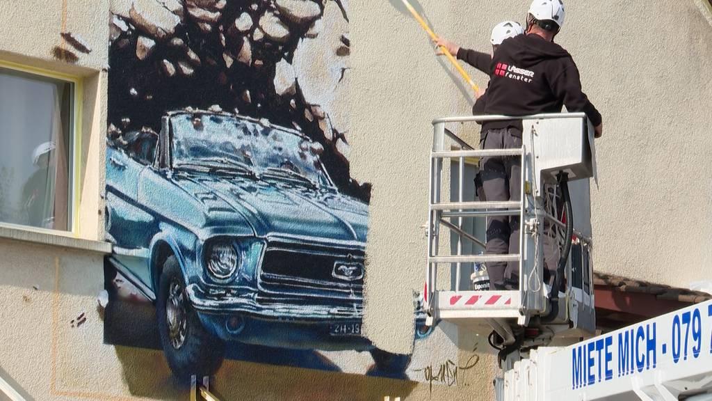 Autoliebhaber muss Privat-Graffiti überstreichen