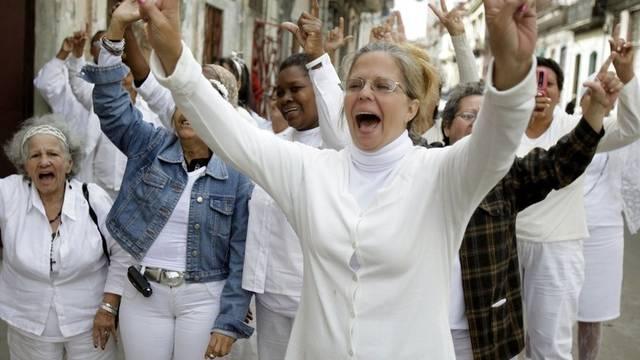 Demonstranten in Havanna