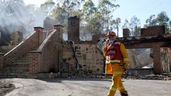Zerstörtes Haus in einem Vorort von Melbourne