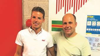 Das Co-Präsidium des FC Solothurn mit Samuel Scheidegger (l.) und Marc Kalousek