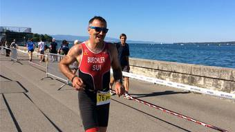 An der Triathlon-EM in Genf reichte es Fredi Büchler für den sechsten Rang in seiner Kategorie. Ob das gut genug ist für die Paralympics, wird sich zeigen. ZVG/Derek Graves