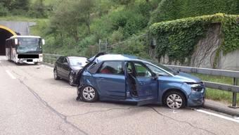 Unfall auf A2 beim Arisdorf-Tunnel