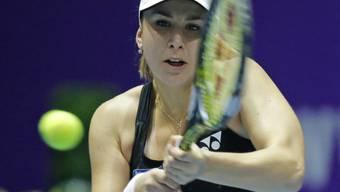 Belinda Bencic voll konzentriert