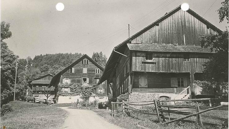 Der Weiler Wiggwil weist einige beschaulichee Winkel auf (Bild aus dem Heimatbuch von Josef Villiger).