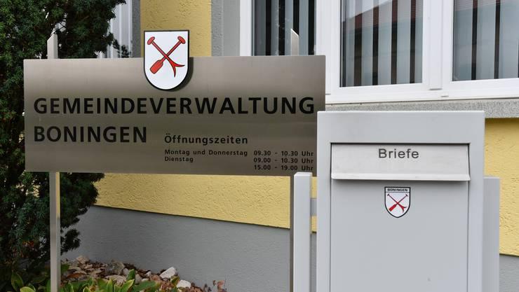 Gemeindehaus Boningen: Vier neue Gesichter werden sich in der Exekutive zu Beginn der neuen Legislatur hier begegnen.