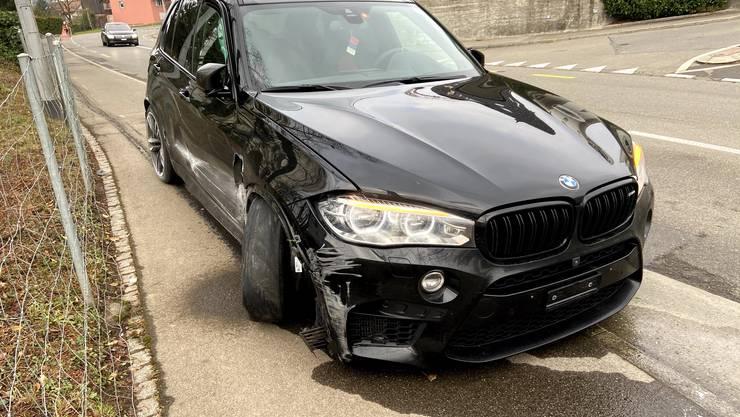 Ein Autofahrer verursachte einen Selbstunfall.
