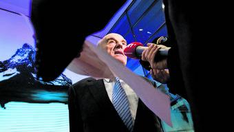 19. Februar 2009: Bundespräsident Hans-Rudolf Merz gibt in Bern den Deal zwischen UBS und US-Justiz bekannt.
