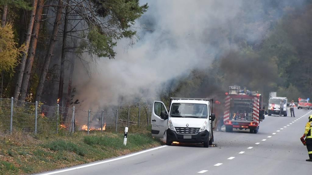 Die Feuerwehr konnte einen Waldbrand verhindern.