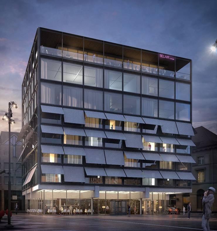 So stellen sich die Architekten vom Architekturbüro «mlzd» den neuen «Aarauerhof» vor.