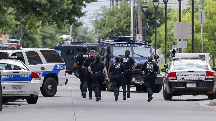 Polizisten in Dallas im Einsatz