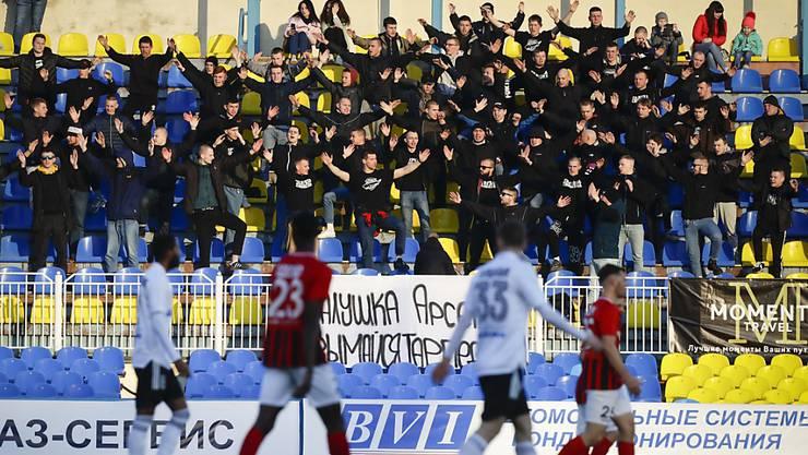 Der Fussballbetrieb in Weissrussland läuft weiter