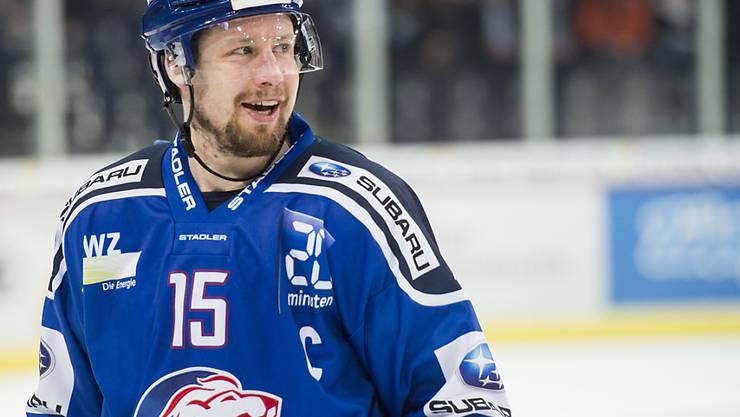 ZSC-Captain Mathias Seger ist mit nunmehr 1079 NLA-Spielen alleiniger Rekordhalter