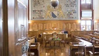 Blick in den Kantonsratssaal im Zürcher Rathaus: Heute kommt die von Sparmassnahmen geprägte Budgetdebatte zum Abschluss. Keystone