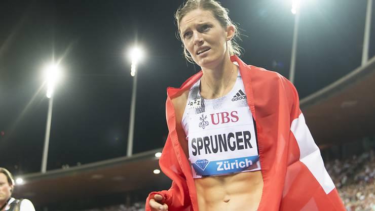 Lea Sprunger zeigte sich vor den Weltmeisterschaften in guter Form