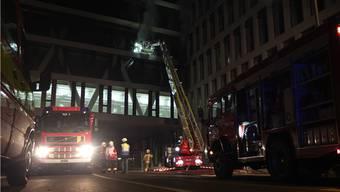 In der Nacht vom 10. auf den 11. April brannte es im Neubau der Fachhochschule.