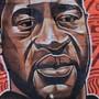 Graffiti des getöteten George Floyd.