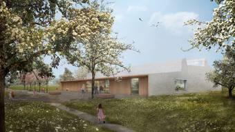 Im Sommer 2022 soll die neue Doppelsporthalle in Staufen bezugsbereit sein.