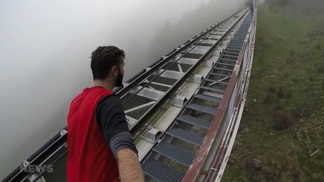 Selbstversuch auf längster Treppe der Welt am Niesen