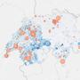 Bis jetzt zeigt die Karte von covidtracker.ch vor allem Daten aus der westlichen Schweiz. Nun liefert die ETH Zahlen aus dem Grossraum Zürich.