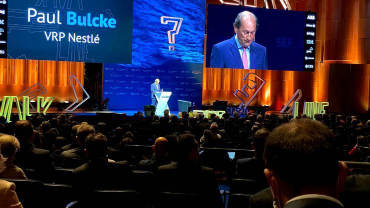 """Nestlé-Präsident Paul Bulcke bei seiner Eröffnungsrede: """"Wir bleiben dem Standort Schweiz treu."""""""