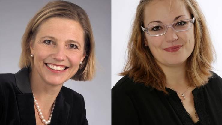 Suzanne Marclay-Merz (links) und Cristina Barbara Kopp.
