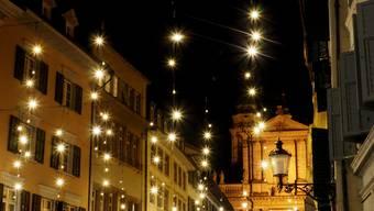 Wenn die Sternlein prangen! Weihnachtsstimmung pur in Solothurn.