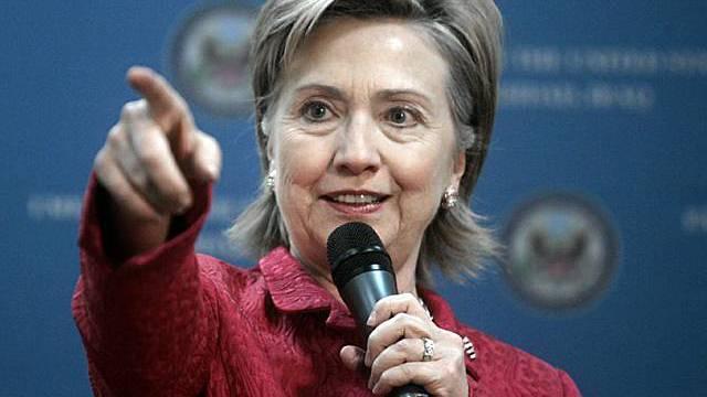 Hillary Clinton zum ersten Mal im Irak