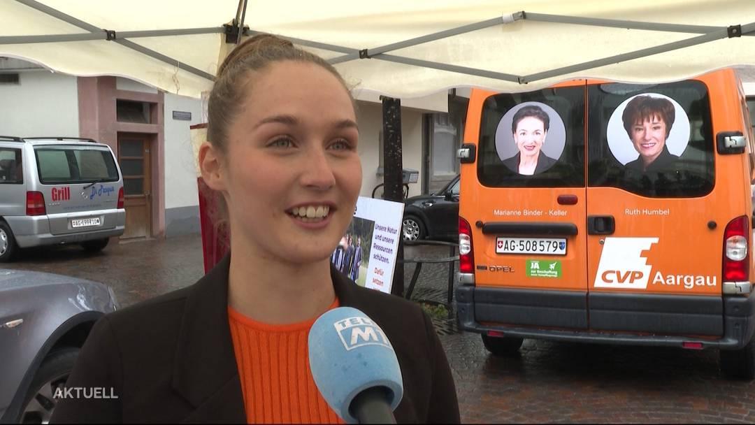 Nach Einladung: Gerhard Pfister besucht die jüngste Aargauer Grossratskandidatin