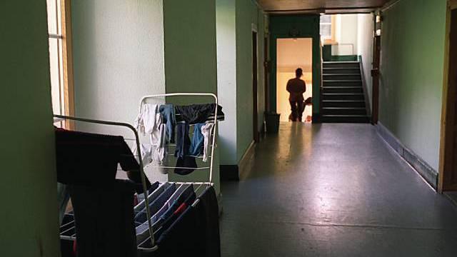 Im Durchgangszentrum für Asylbewerber