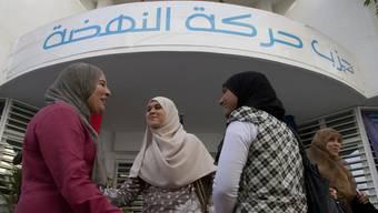 Keine Angst vor einem Gottesstaat: Anhängerinnen der Ennahda-Partei in Tunesien