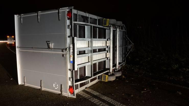In Arisdorf kam es zu einem Selbstunfall mit einem Wohnmobil
