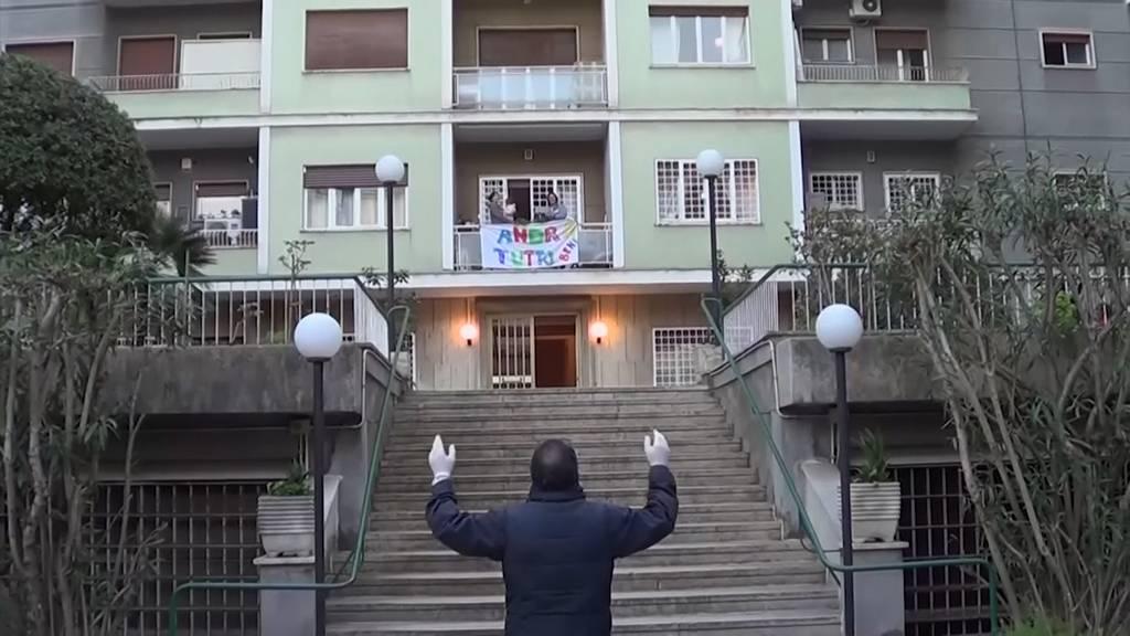 Italien macht gute Laune mit Balkonkonzerten