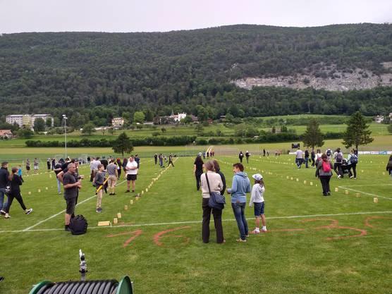 Rund 200 Personen trafen sich am Wochenende zum Kubbturnier.
