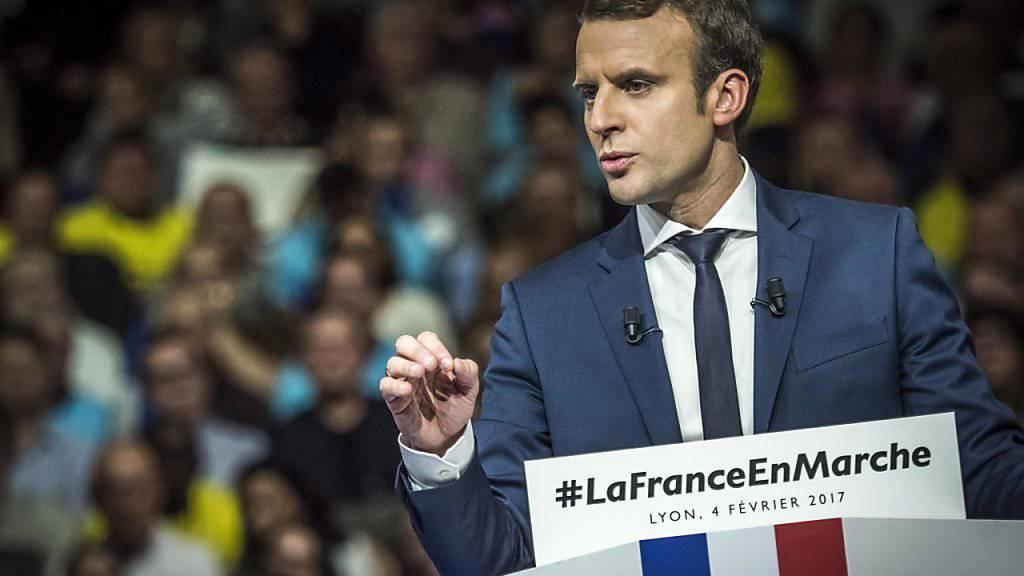 Der 39-jährige sozialliberale Reformer Macron präsentiert sich als frische Alternative zu den Vertretern der grossen Parteien.