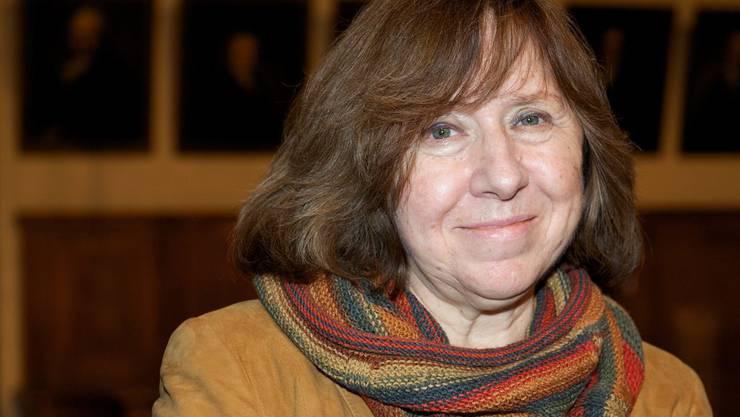 Swetlana Alexijewitsch erhielt 2015 den Literaturnobelpreis, der wichtigste Literaturpreis der Welt. Am Donnerstag wird bekannt gegeben, wer auf die Weissrussin folgt. (Archivbild)