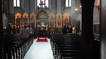 Die St. Alban-Kirche wird restauriert - dabei sind nun alte Wandmalereien aus dem 14. Jahrhundert entdeckt worden.