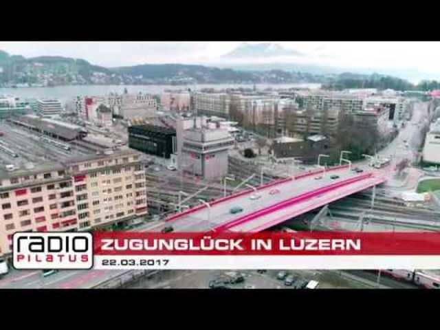 Luftaufnahmen: Zugunglück im Bahnhof Luzern