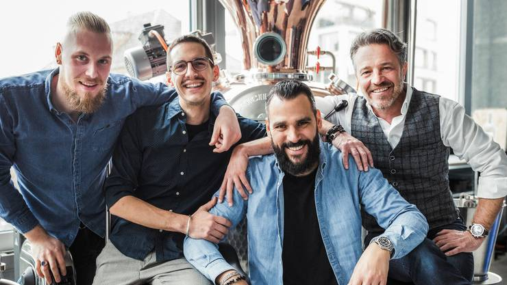 Das Team der 5400 Manufaktur GmbH: Oliver Honegger, Merlin Kofler, Oscar Martin und Stefan Wetzel.