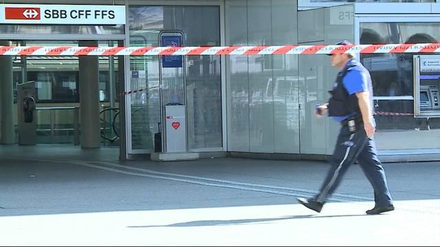 Grosseinsatz wegen Verdächtigem Gegenstand am BHF Aarau