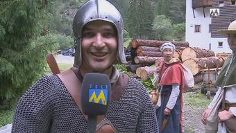 Ein Tele-M1-Reporter begleitet als Ritter eine Mutter und ihren Sohn durchs Mittelalter