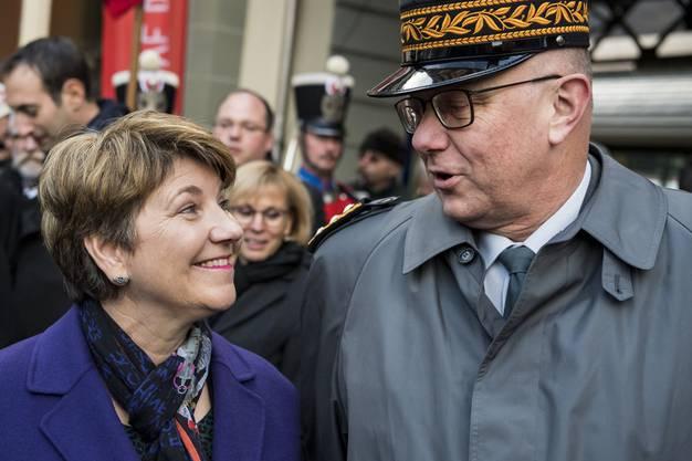 Viola Amherd mit Armeechef Philippe Rebord